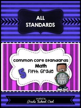 Common Core Math Assessments Grade 5 (ALL STANDARDS PACK)