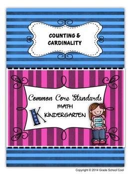 Common Core Math Assessments Grade K (Counting & Cardinality)