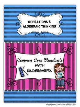 Common Core Math Assessments Grade K (Operations & Algebraic Thinking)