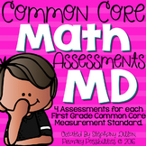 Common Core Math Assessments- Measurement 1.MD.1,1.MD.2,1.MD.3,1.MD.4