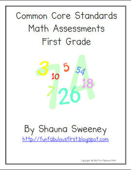 Common Core Math Assessments Mega Pack- FIRST GRADE