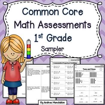 Common Core Math Assessments Freebie