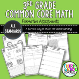 Third Grade Common Core Math - Quick Formative Assessments for EVERY Standard!