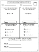 Common Core Math Assessments for 1st Grade - Operations and Algebraic Thinking