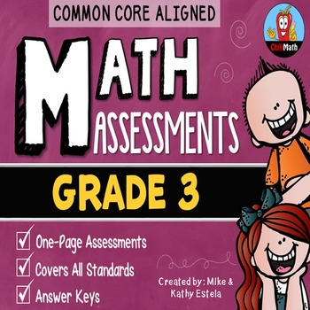 Common Core Math Assessments {3rd Grade}