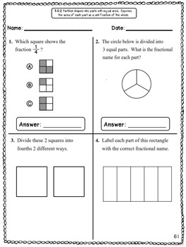Common Core Math Assessments - 3rd Grade