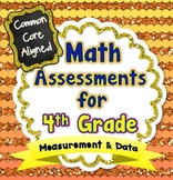 Common Core Math Assessments for 4th Grade - Measurement & Data