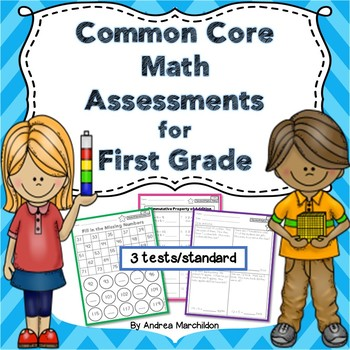 *Common Core Math Assessments for First Grade (3 tests/standard)