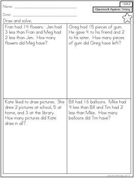 Common Core Math Assessments - 1st Grade