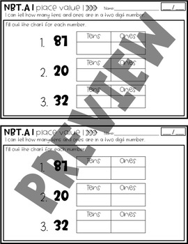Quick Common Core Math Assessments for Second Grade NBT