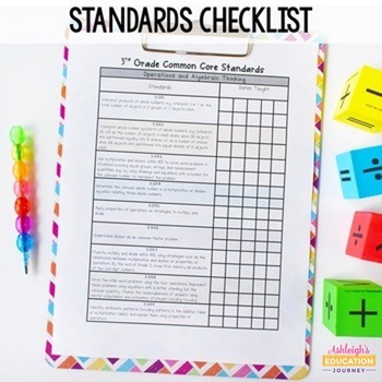 Third Grade Math Assessments for the Common Core Standards