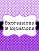 Common Core Math Binder Covers and Spine Labels 6th and 7th grade