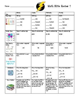 Common Core Math Blitz Review (Part 1)