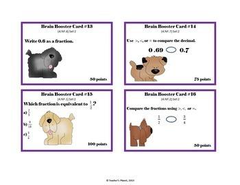 4th Grade  Math Test Prep/ Game/ Task Cards Bundle Set 2
