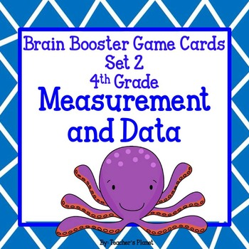 Common Core Math Brain Booster Game/Task Cards Measurement and Data Set 2