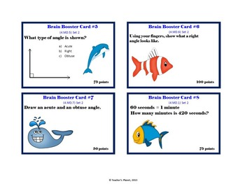 4th Grade Math Game/Task Cards - Measurement and Data Set 2