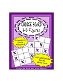 Common Core Math - CHOICE BOARD 2-D Geometry - 5th Grade