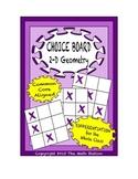 Common Core Math - CHOICE BOARD 2-D Geometry - 7th Grade