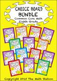 Common Core Math - CHOICE BOARD BUNDLE Eighth Grade