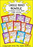 Common Core Math - CHOICE BOARD BUNDLE Fifth Grade