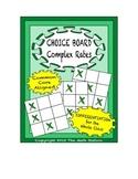 Common Core Math - CHOICE BOARD Complex Rates - 7th Grade