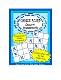 Common Core Math - CHOICE BOARD Converting Measurements - 5th Grade