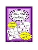 Common Core Math - CHOICE BOARD Coordinates - 5th Grade