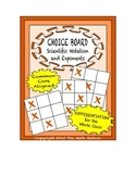 Common Core Math - CHOICE BOARD Exponents and Scientific Notation - 8th Grade