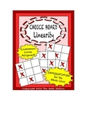 Common Core Math - CHOICE BOARD Introduction to Linearity - 8th Grade