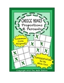 Common Core Math - CHOICE BOARD Proportions & Percents - 7th Grade