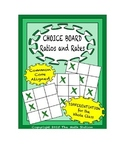 Common Core Math - CHOICE BOARD Ratios & Unit Rates - 6th Grade