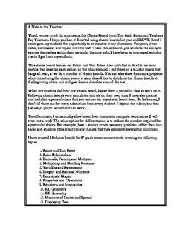 Common Core Math - CHOICE BOARD Ratios & Unit Rates - 6th Grade