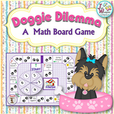 Kindergarten Math Game for Math Centers Doggie Dilemma Shapes Game