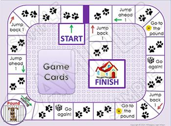 Kindergarten Math Game for Math Centers Doggie Dilemma Shapes Game