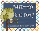 Common Core Math Center Game: Whoo-Hoo Comes Next