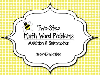 Common Core Math Center (two-step word problems)