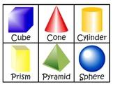 Common Core Math Centers ~ 3D ~ Solid ~ Flat ~ Plane Shapes