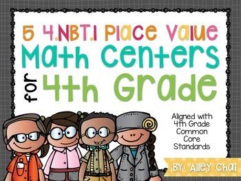 Common Core Math Centers (4.NBT.1)