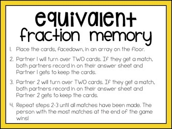Common Core Math Centers (4.NF.1 - Simplifying & Equivalent Fractions)
