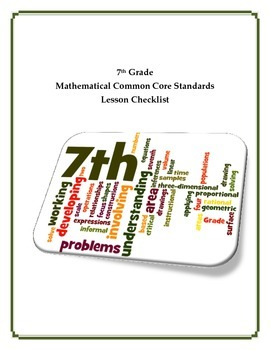Common Core Math Checklist - 7th Grade