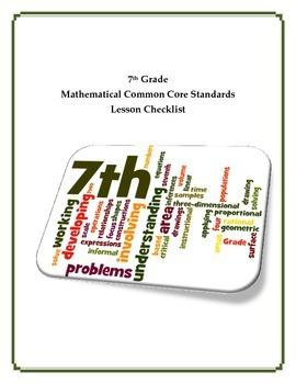 Common Core Math Checklist - 7th Grade