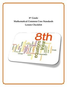 Common Core Math Checklist - 8th Grade