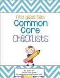 Common Core Math Checklist - First Grade