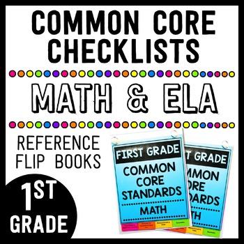 Common Core Math/ELA Checklist Flip Books - 1st Grade