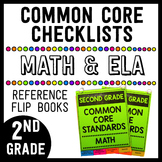 Common Core Math/ELA Checklist Flip Books - 2nd Grade