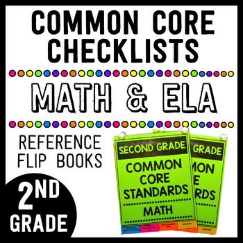 Common Core Math/ELA Checklist Flip Books - 2nd Grade