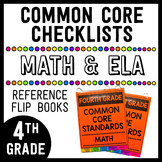 Common Core Math/ELA Checklists Flip Books - 4th Grade