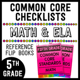 Common Core Math/ELA Checklists Flip Books - 5th Grade