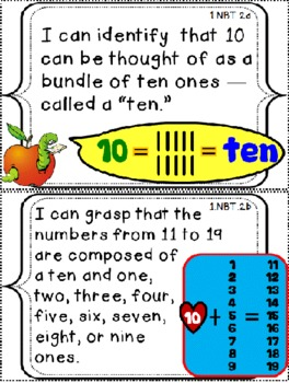 "Grade 1 Common Core Math Checklist and ""I Can"" Posters"