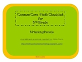 Common Core Math Checklist for 3rd Grade – 3 Marking Periods!